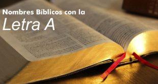 nombres biblicos con a